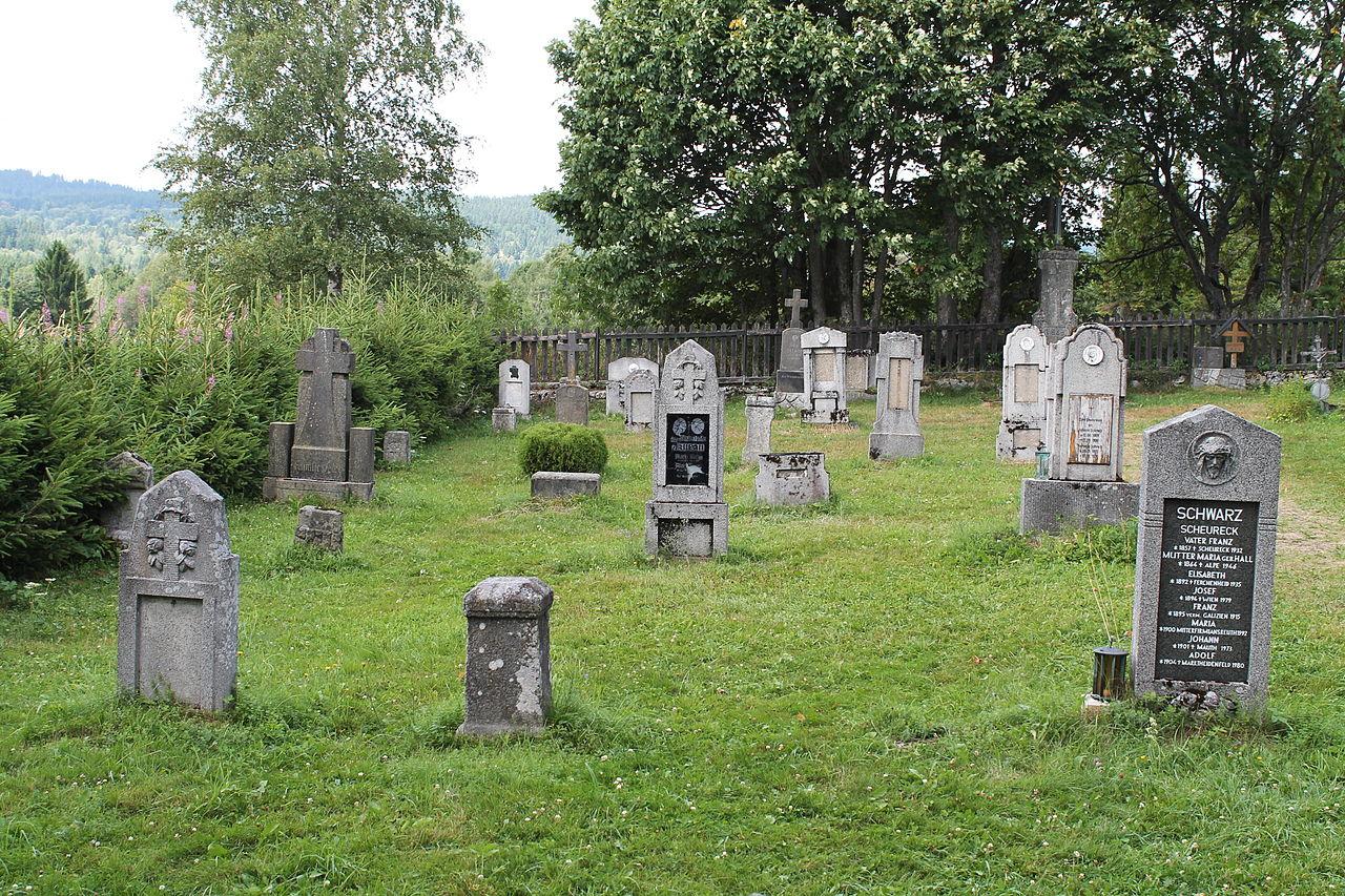 Borová Lada, Knížecí Pláně, hřbitov