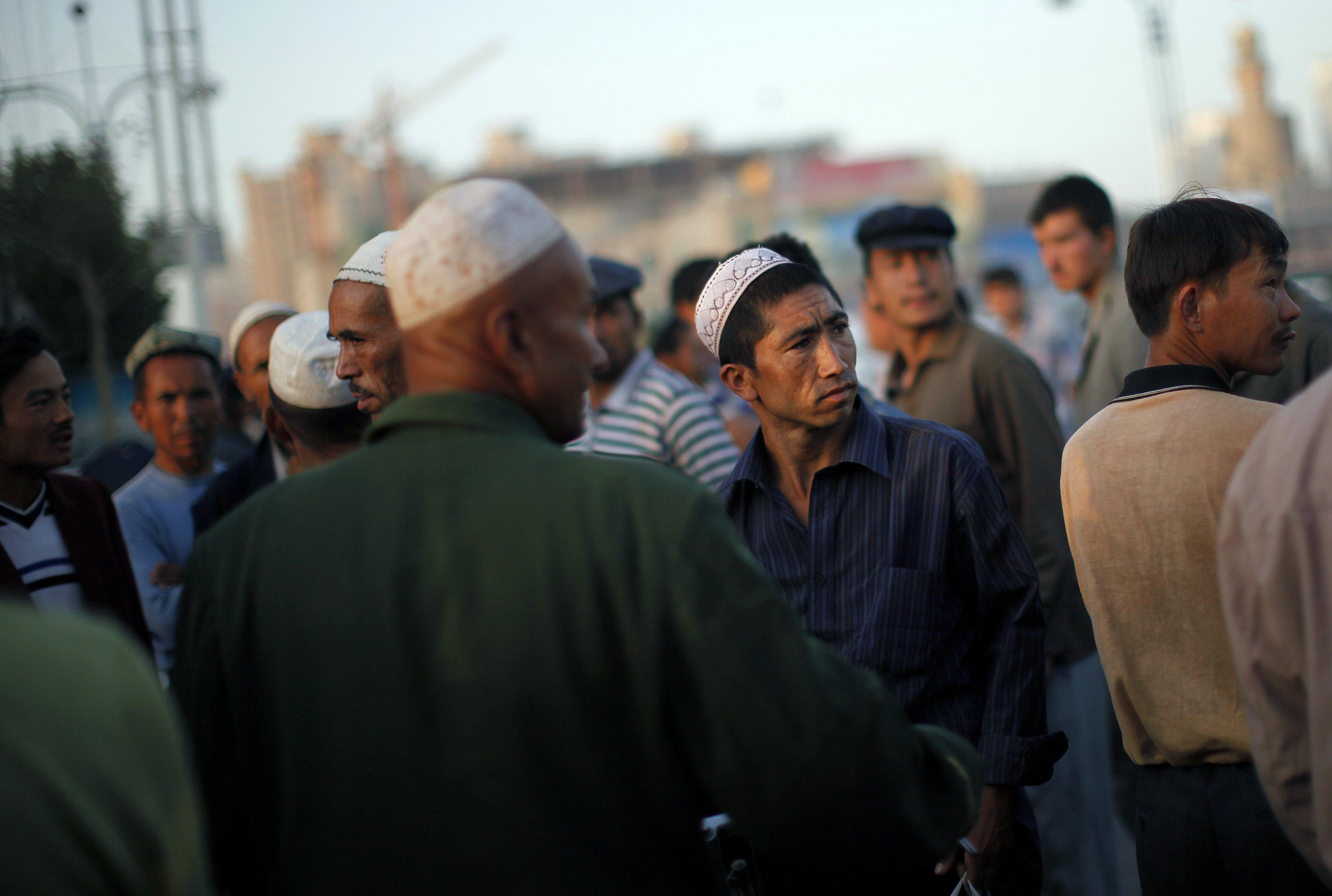 Ujgurové ve městě Kašgar