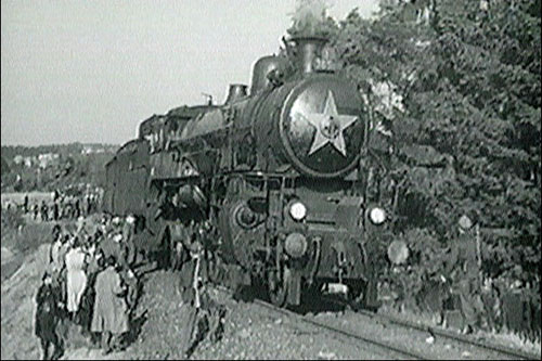 """""""Vlak svobody"""" na archivním snímku z roku 1951"""