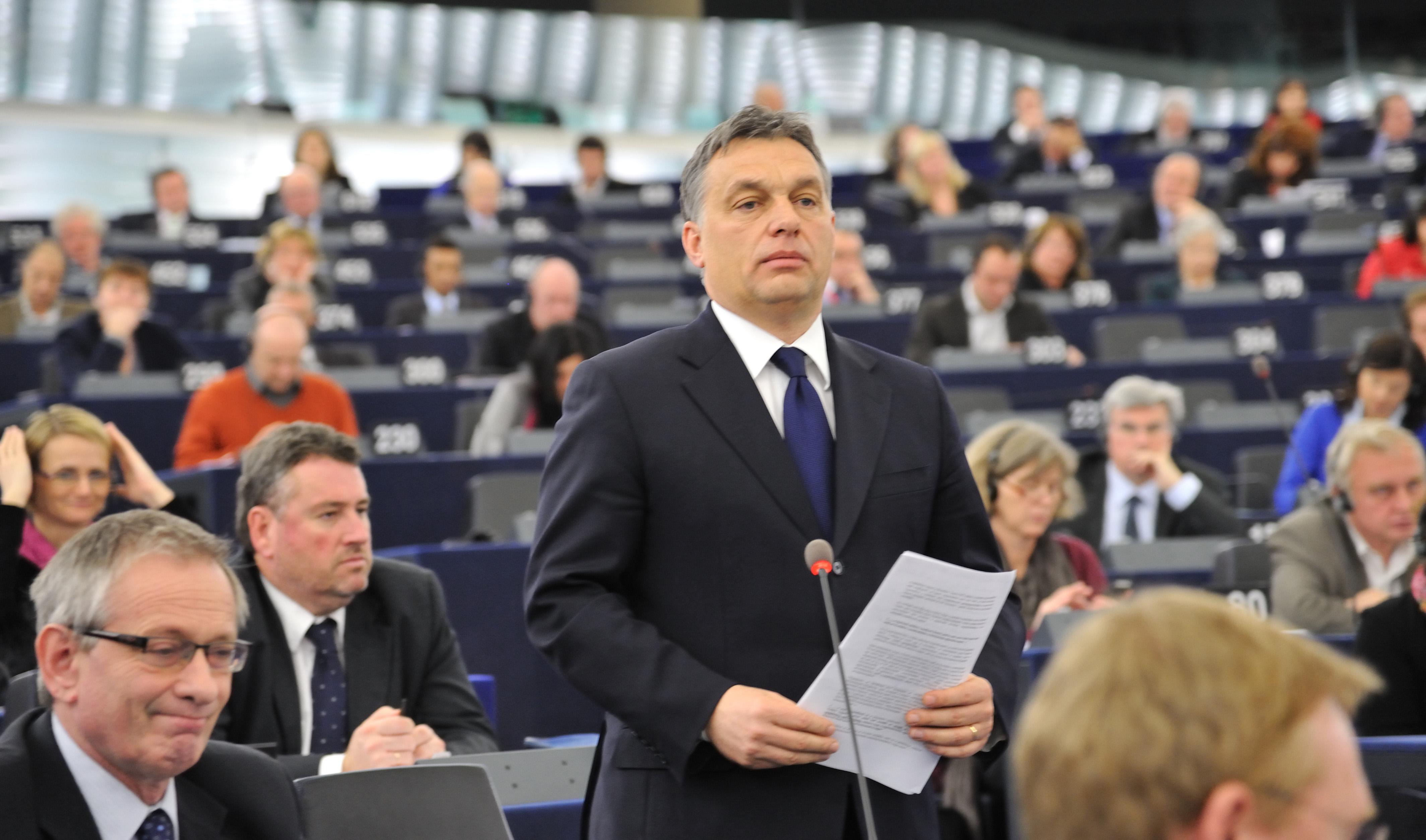 Viktor Orbán v Evropském parlamentu