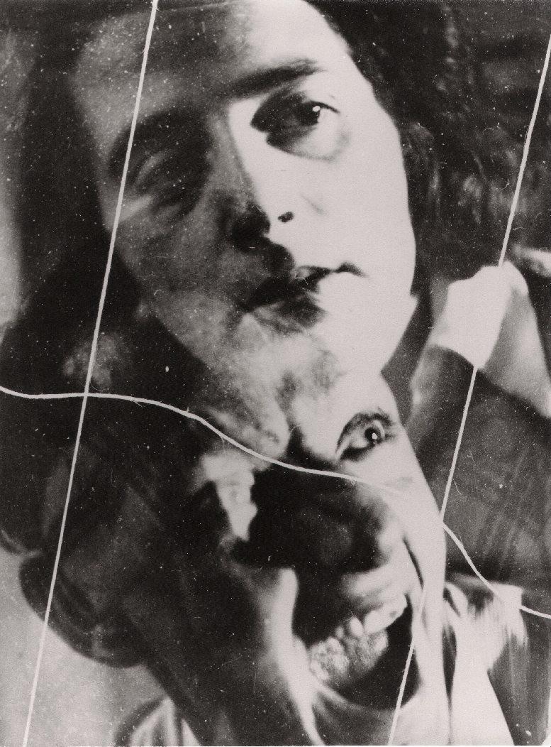 Irena Blühová a její manžel Imro Weiner-Král, Dessau 1931-1932. Pokusy s dvěma negativy – jedna z 12 variant.
