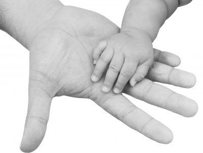 Ruce, dítě, dospělí, láska, rodič