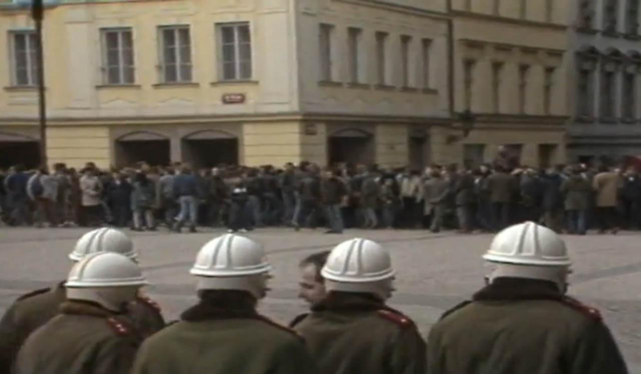 Palachův týden, leden 1989, Václavské náměstí