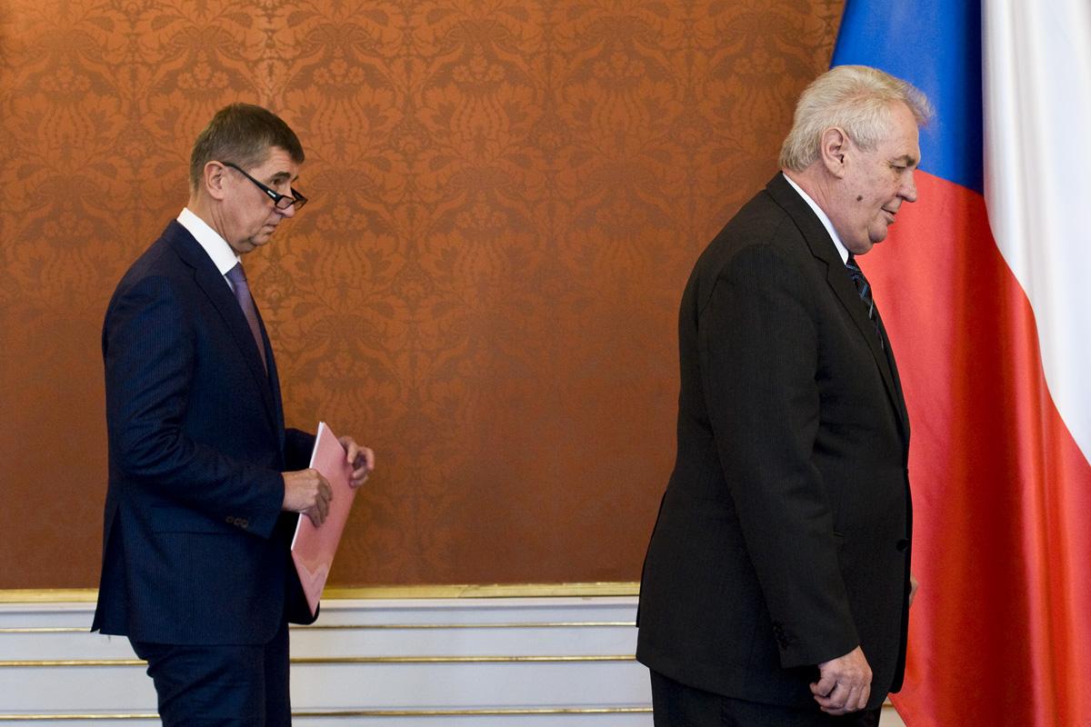 Miloš Zeman (vpravo) a Andrej Babiš