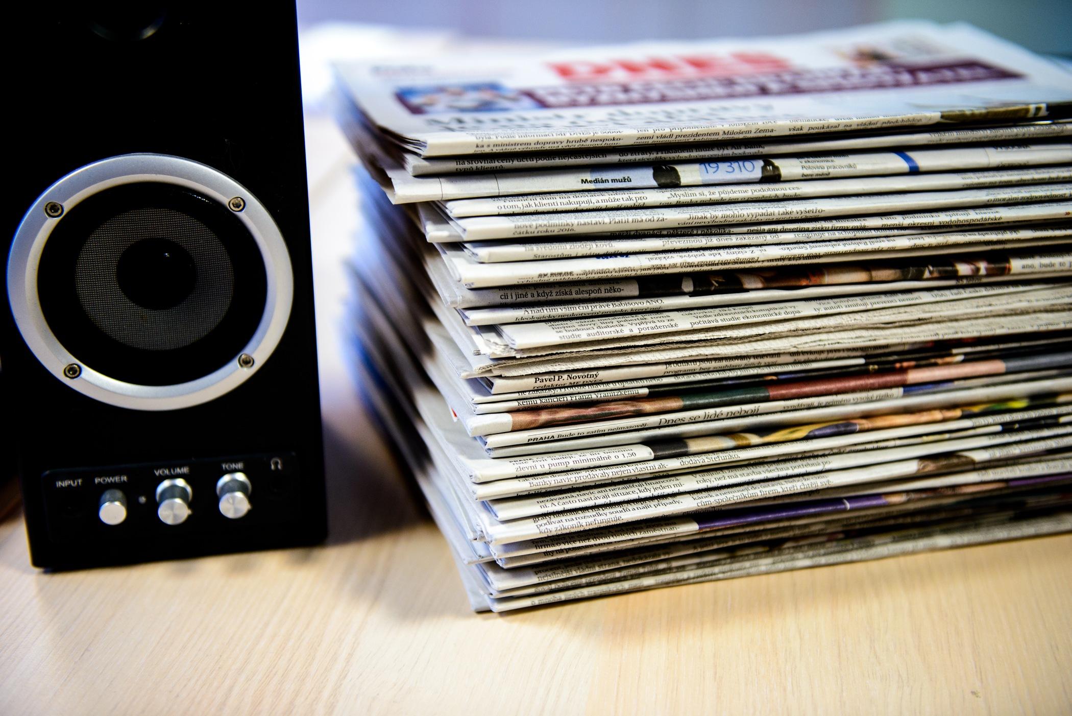 Média, noviny, informace (ilustrační foto)