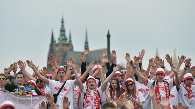 Fanoušci pražské Slavie se vydali na pochod z Vršovic na Letnou na derby se Spartou