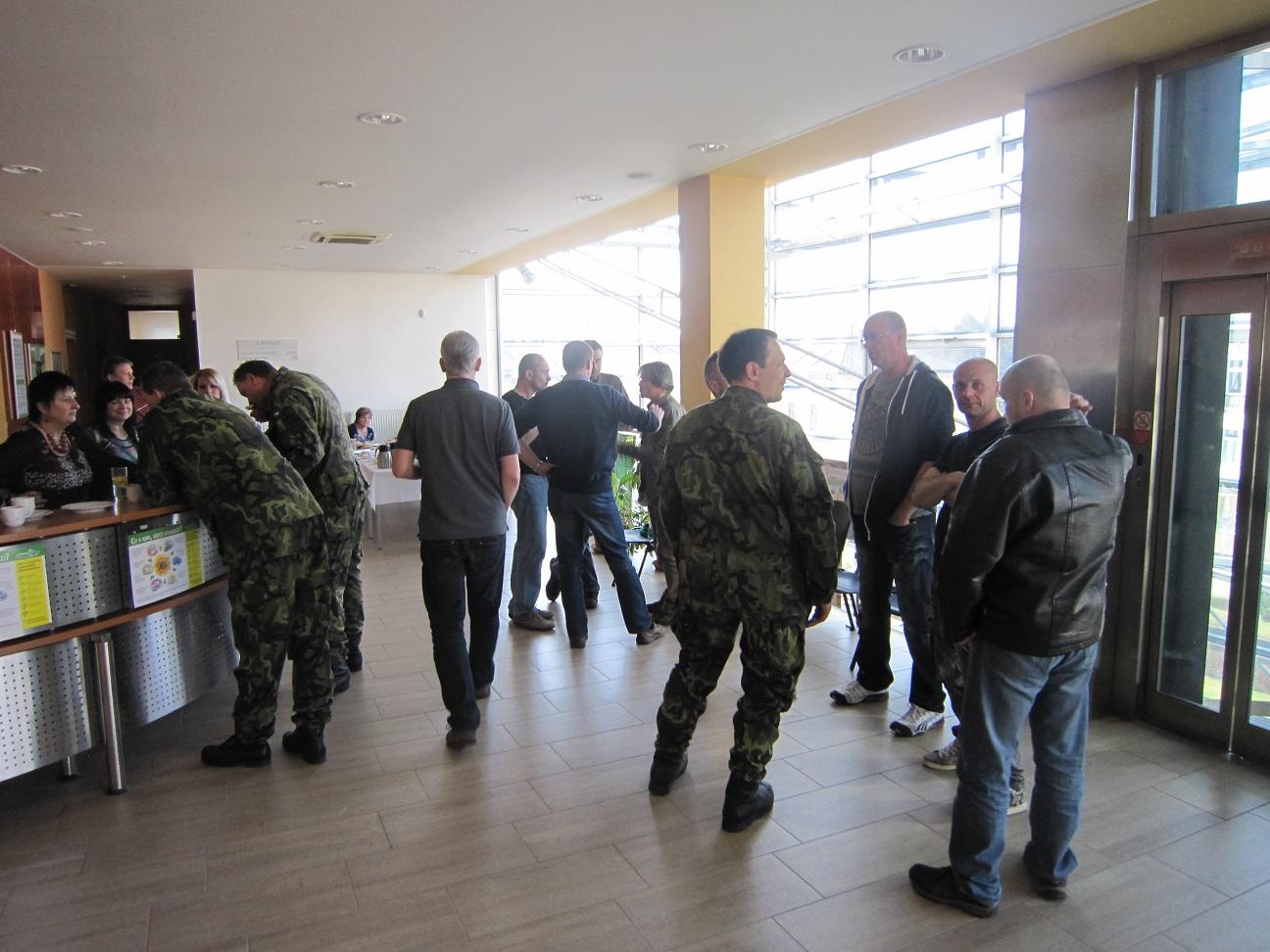 Cvičný odvod branců v Jihlavě