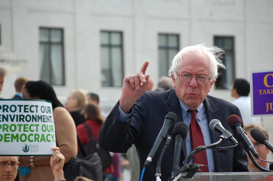 Nezávislý kandidát na prezidenta USA Bernie Sanders