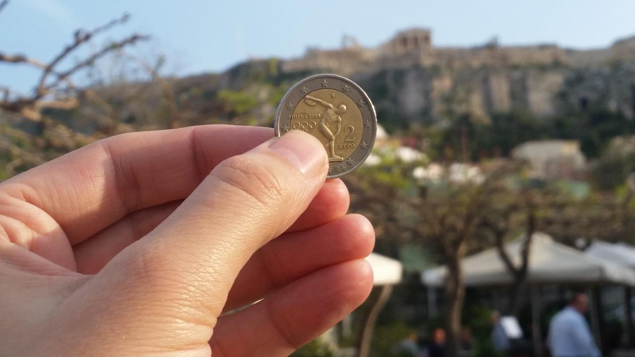 Řecko, euro (ilustrační foto)