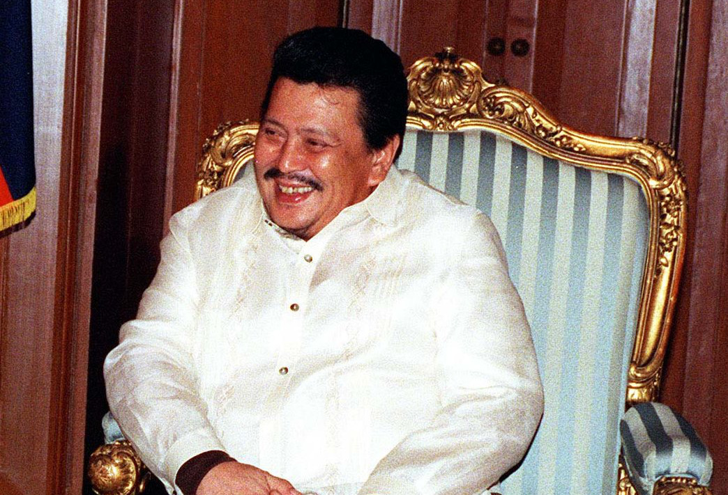Filipínský prezident Joseph Estrada v roce 1998
