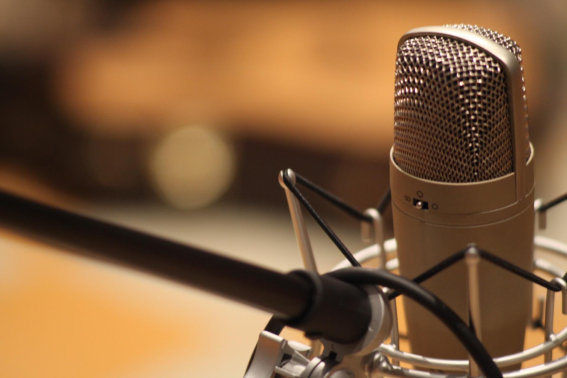 Mikrofon, studio, zvuk (ilustrační foto)