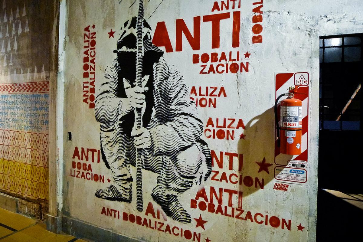 Graffiti proti globalizaci