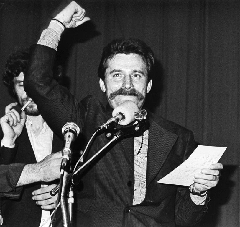 Lech Walesa v srpnu 1980