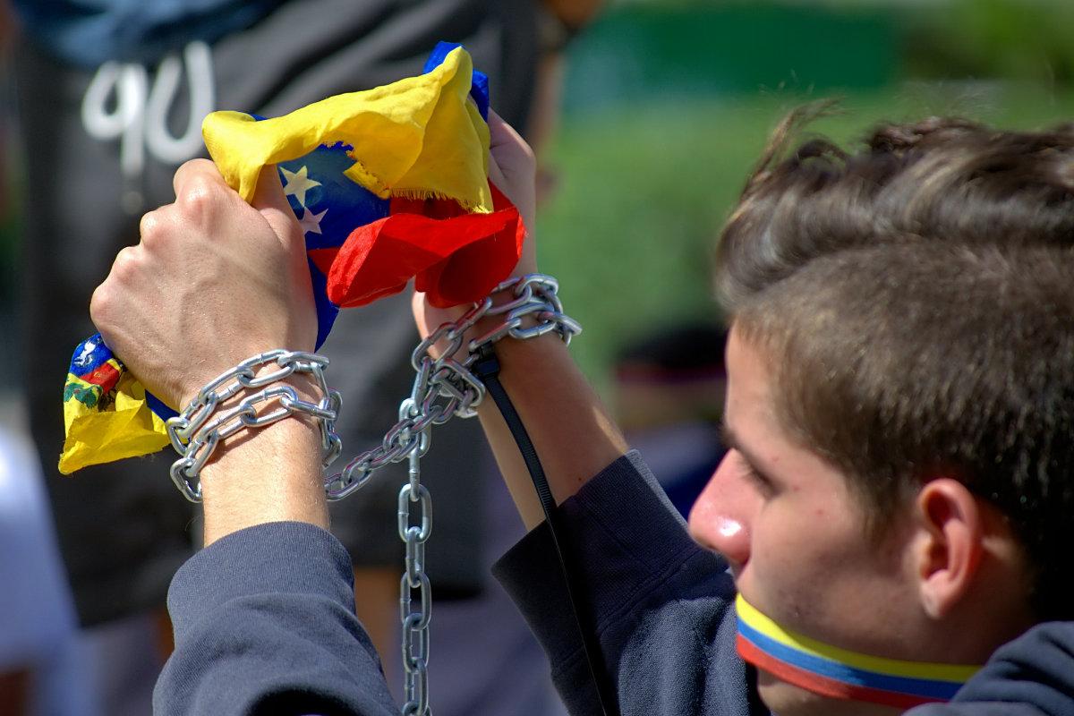 Protest proti prezidentu Madurovi