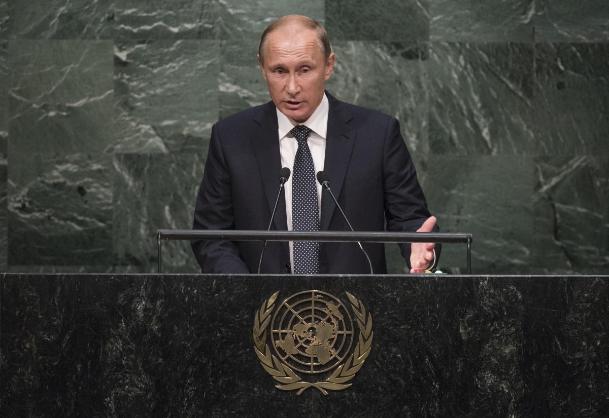 Vladimir Putin v projevu před Generálním shromážděním OSN