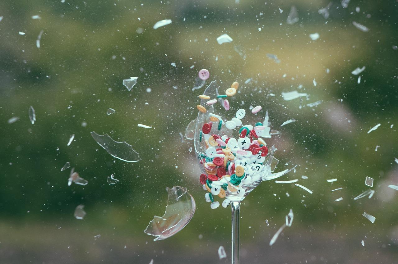 Střepy prý přinášejí štěstí (ilustrační foto)