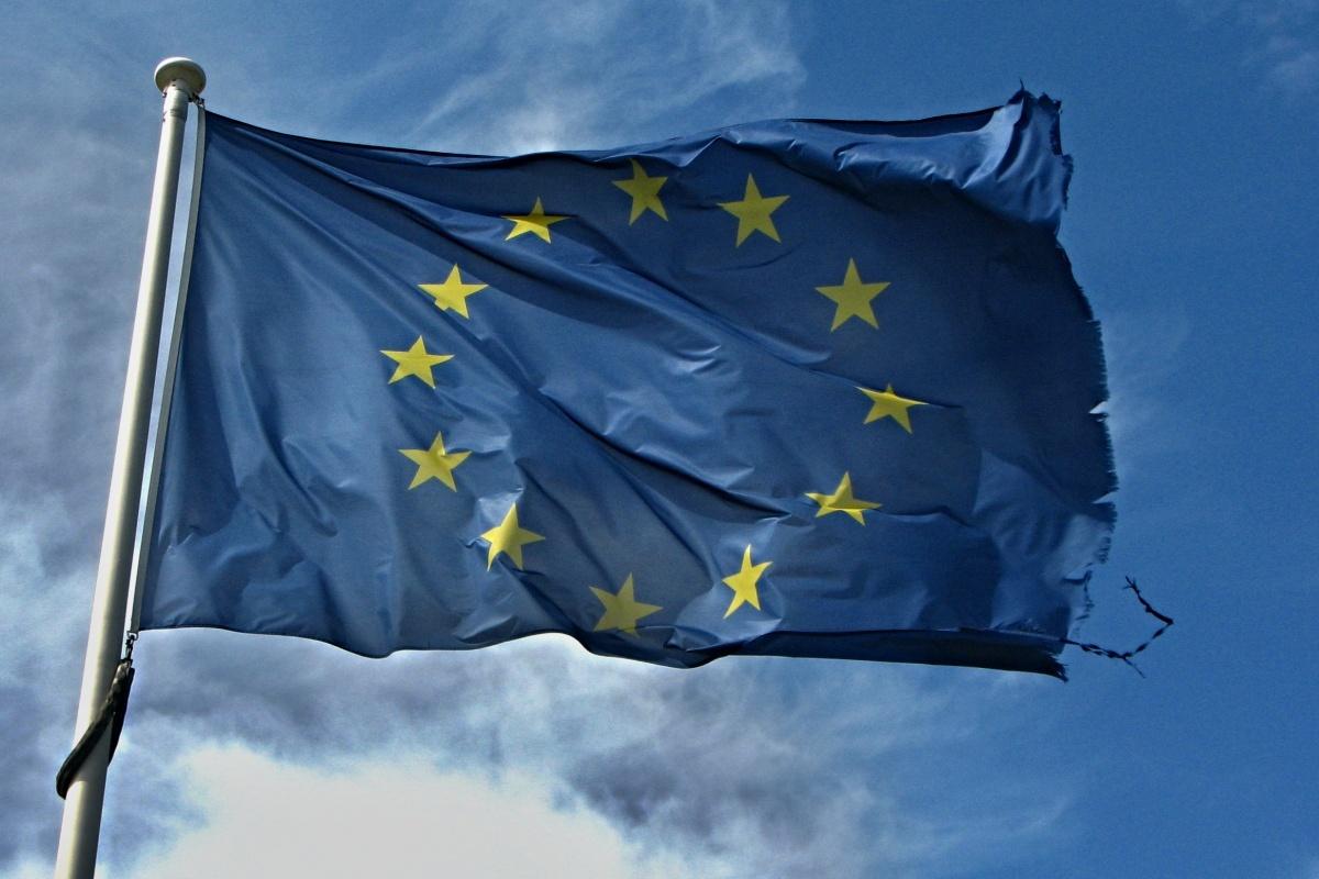 Potrhaná vlajka Evropské unie