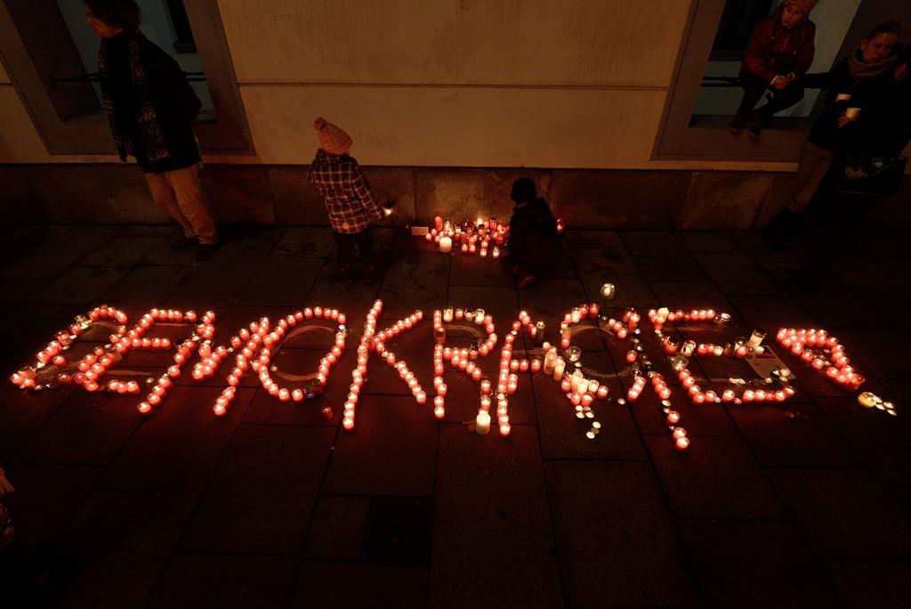 Připomínka výročí 17. listopadu v Českých Budějovicích