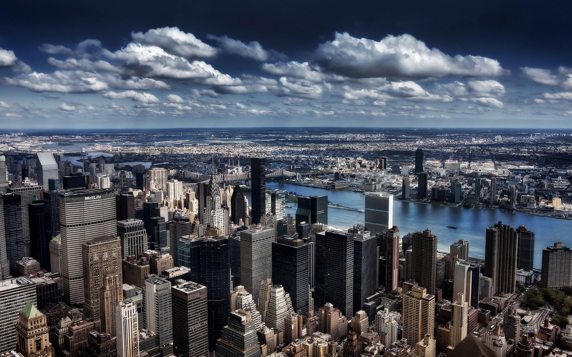 Pohled na předměstí New Yorku