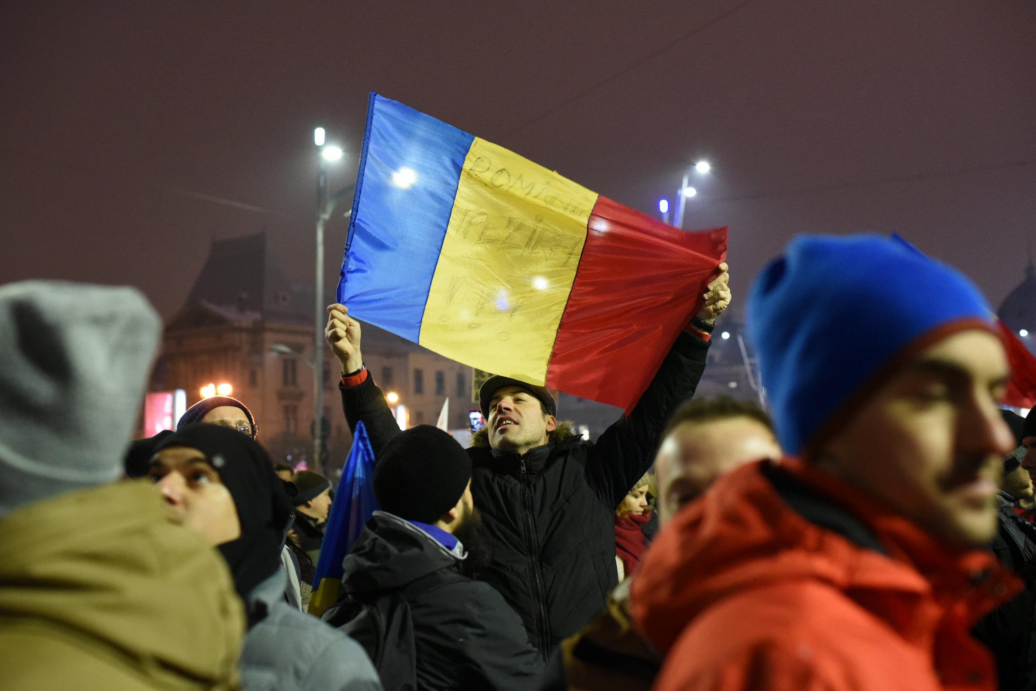 Protivládní protesty v Rumunsku kvůli nařízení legalizujícím korupci