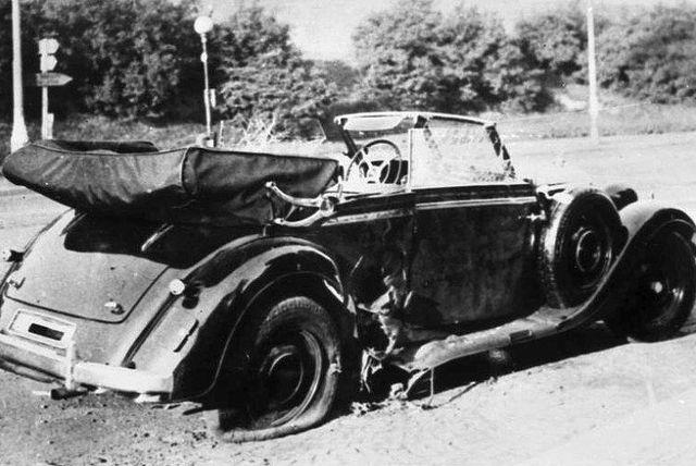 Vůz Reinharda Heydricha po atentátu