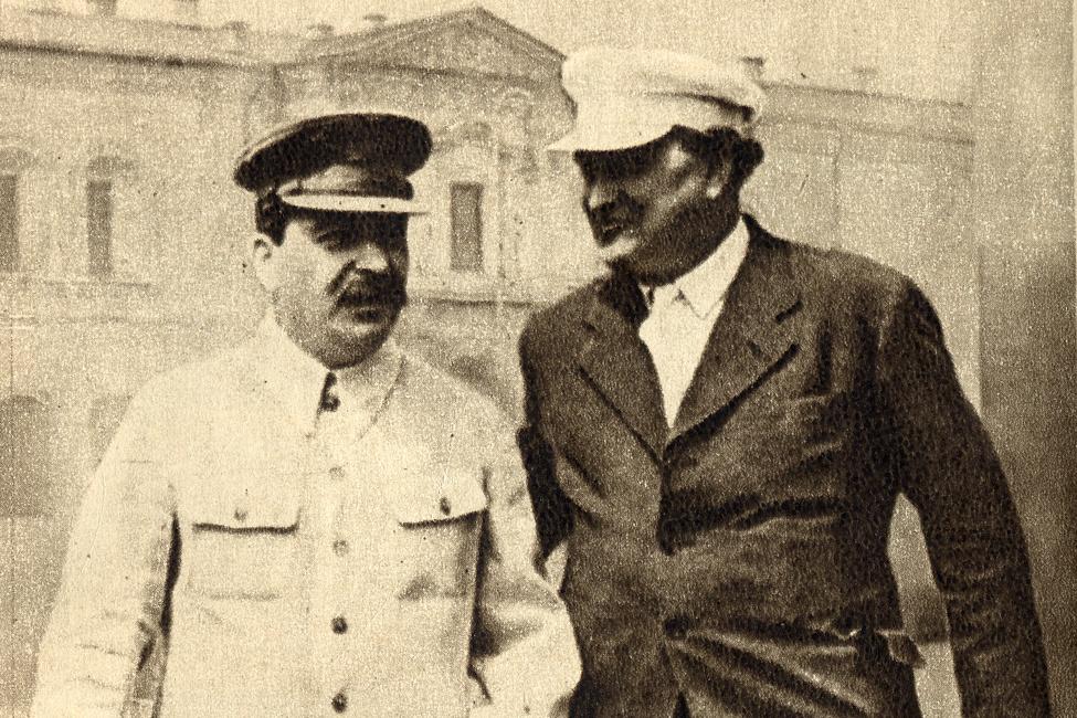 Joseif Stalin a Georgi Dimitrov v roce 1936