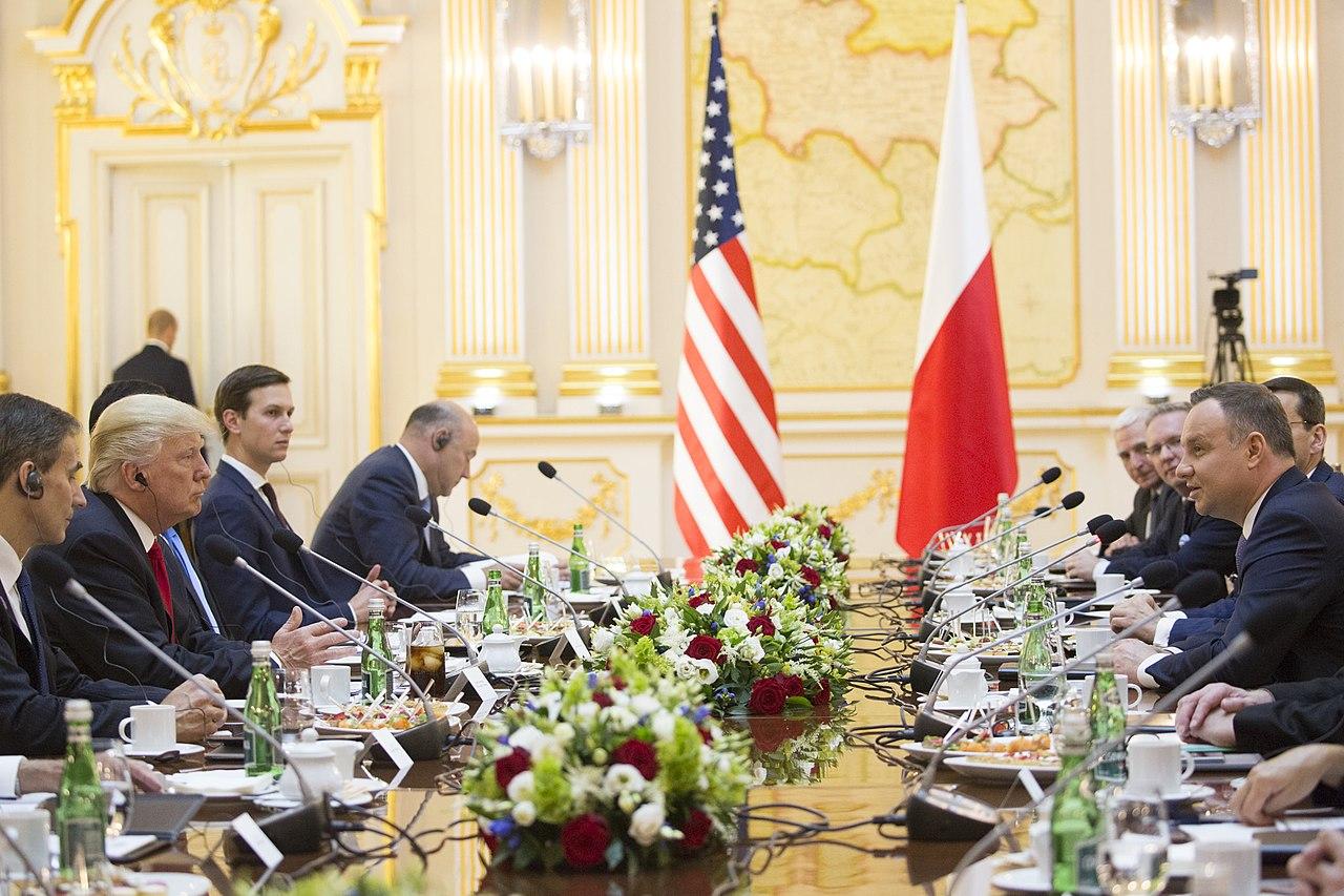 Donald Trump během návštěvy Polska