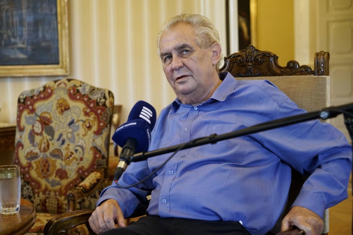 Prezident Miloš Zeman odpovídal na otázky moderátora Jana Pokorného