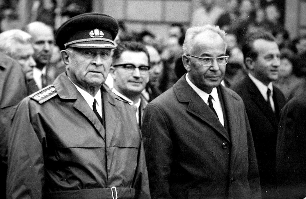 Ludvík Svoboda a Gustáv Husák