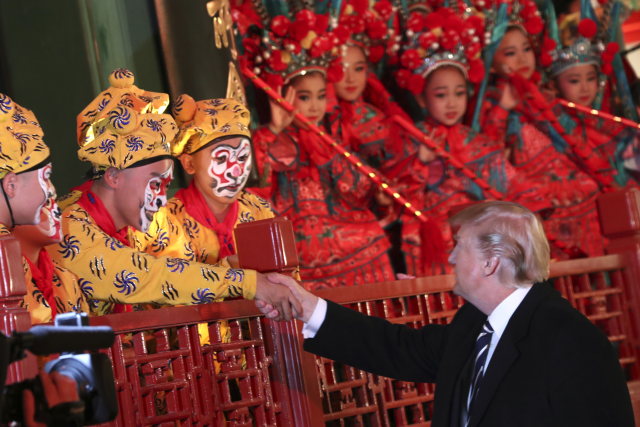 Donald Trump na návštěvě Číny