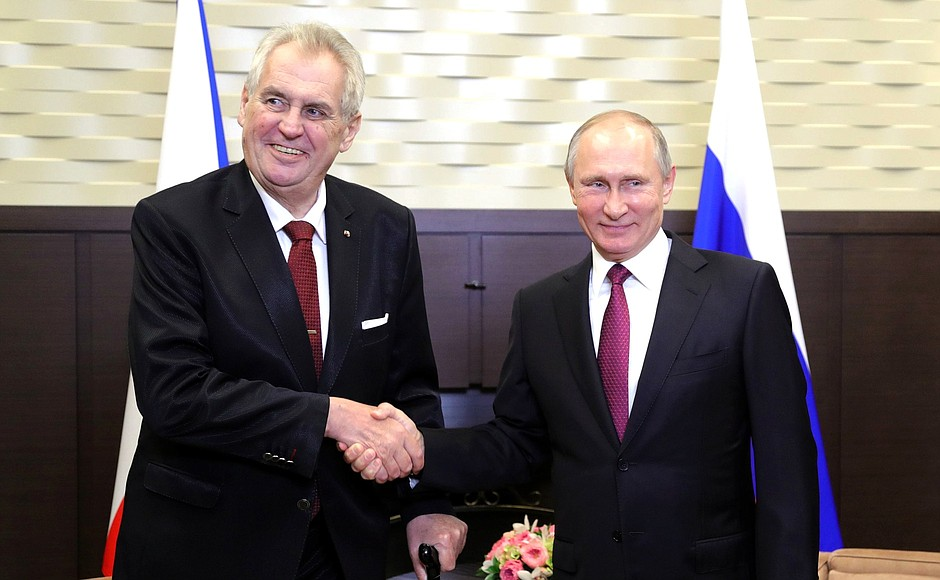 Prezidenti Miloš Zeman a Vladimir Putin