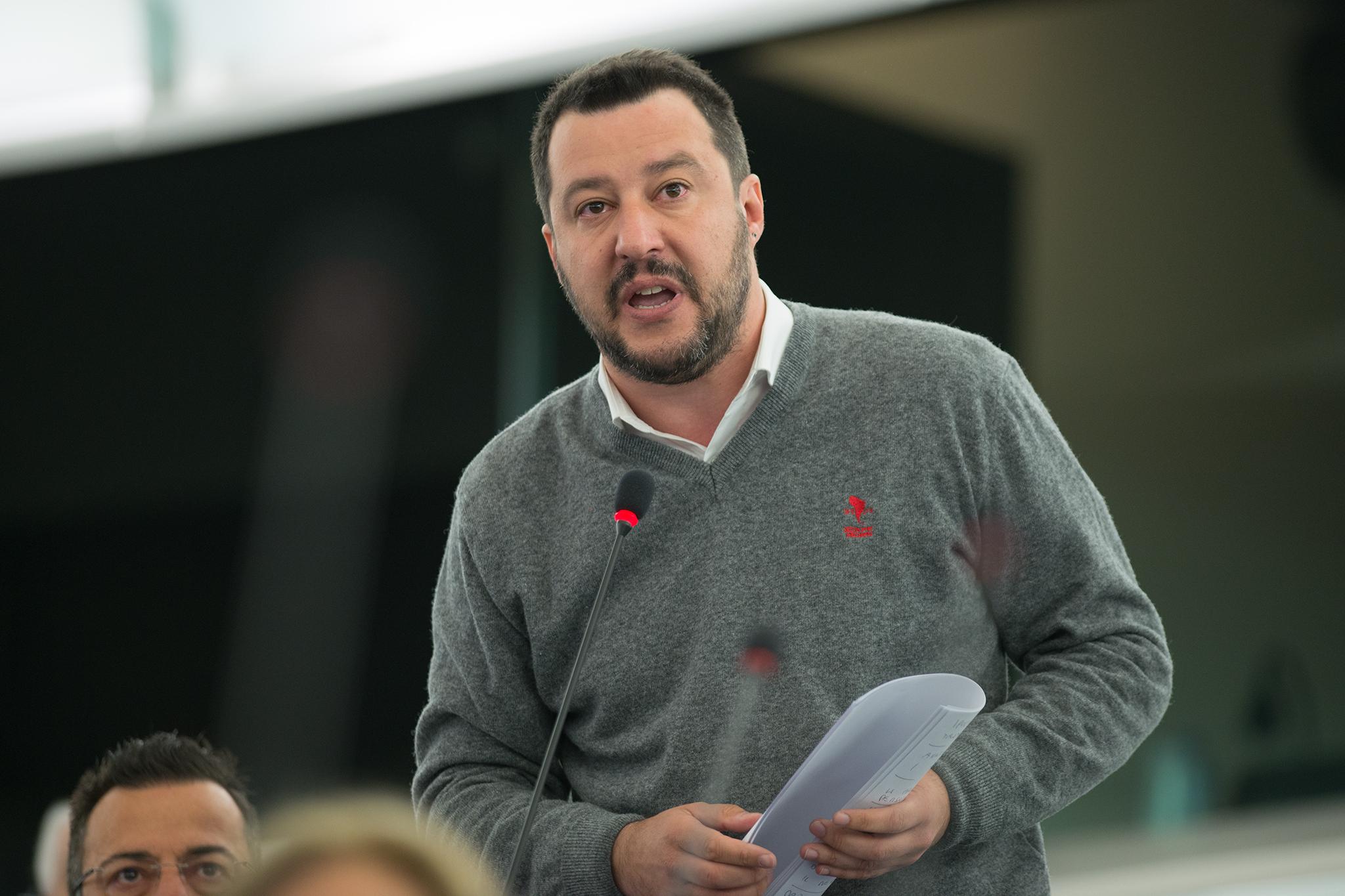 Předseda italské strany Lega Nord (Liga Severu) Matteo Salvini