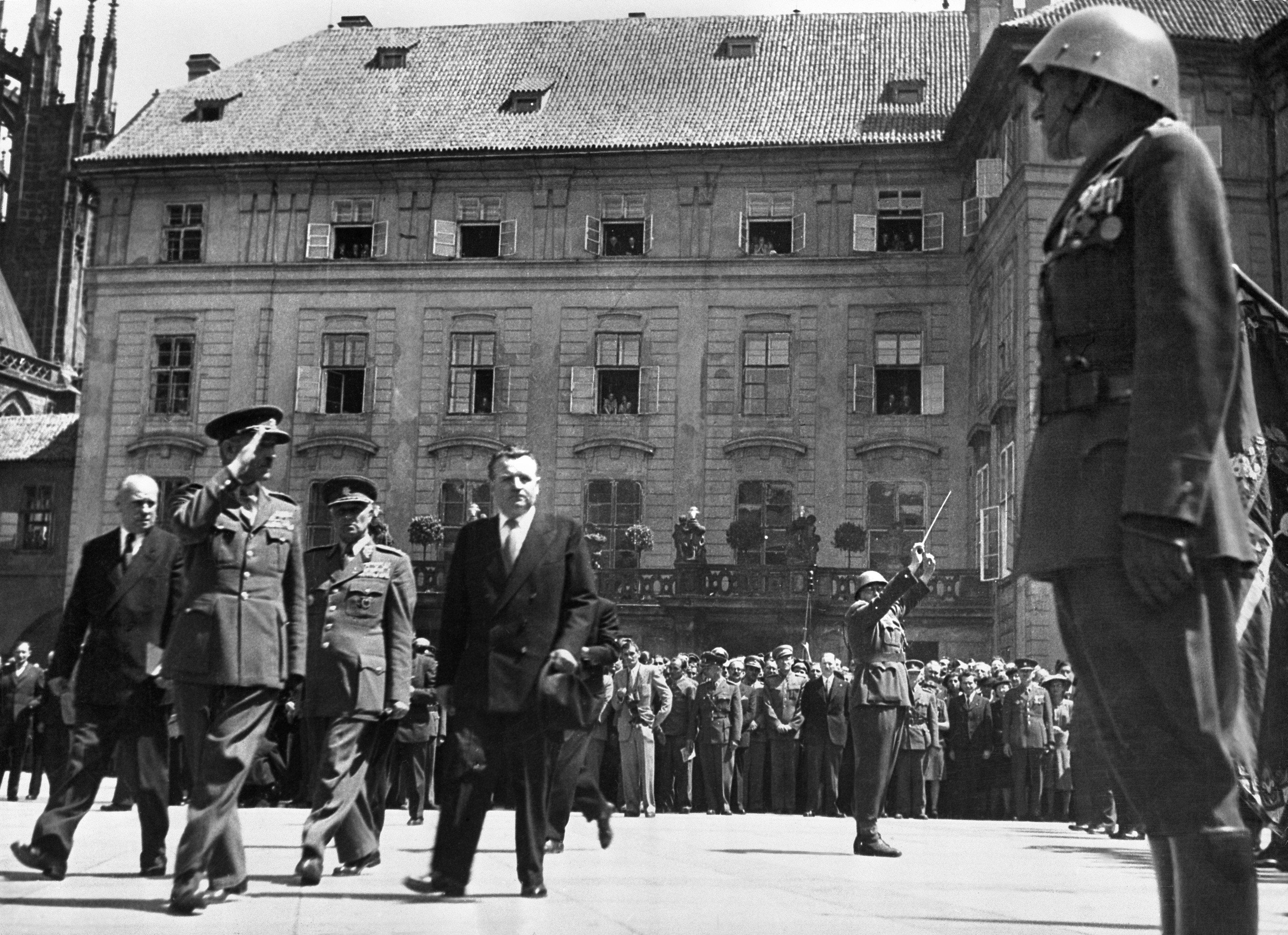 Nově zvolený prezident Klement Gottwald, 15. června 1948