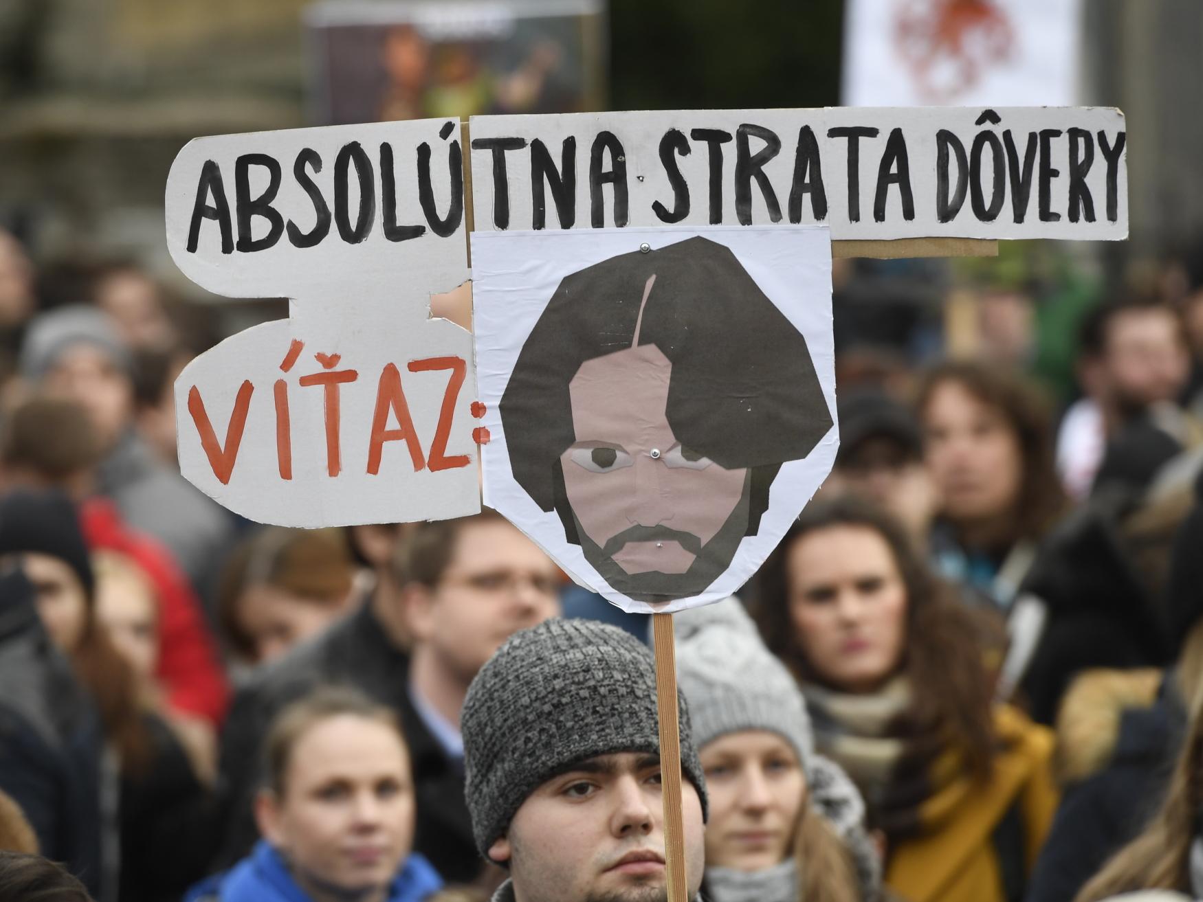 Demonstrace za nezávislé a důkladné vyšetření vraždy slovenského novináře Jána Kuciaka a jeho partnerky Martiny Kušnírové a za vznik nové a důvěryhodné vlády na Slovensku