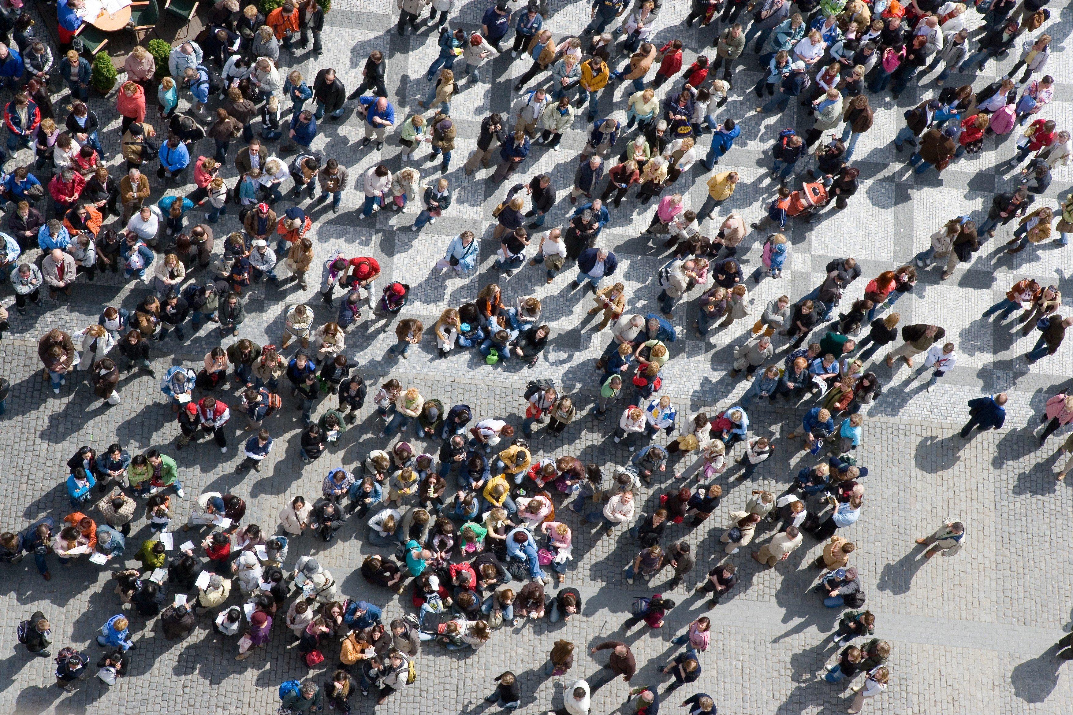 Dav, lidé, Staroměstské náměstí