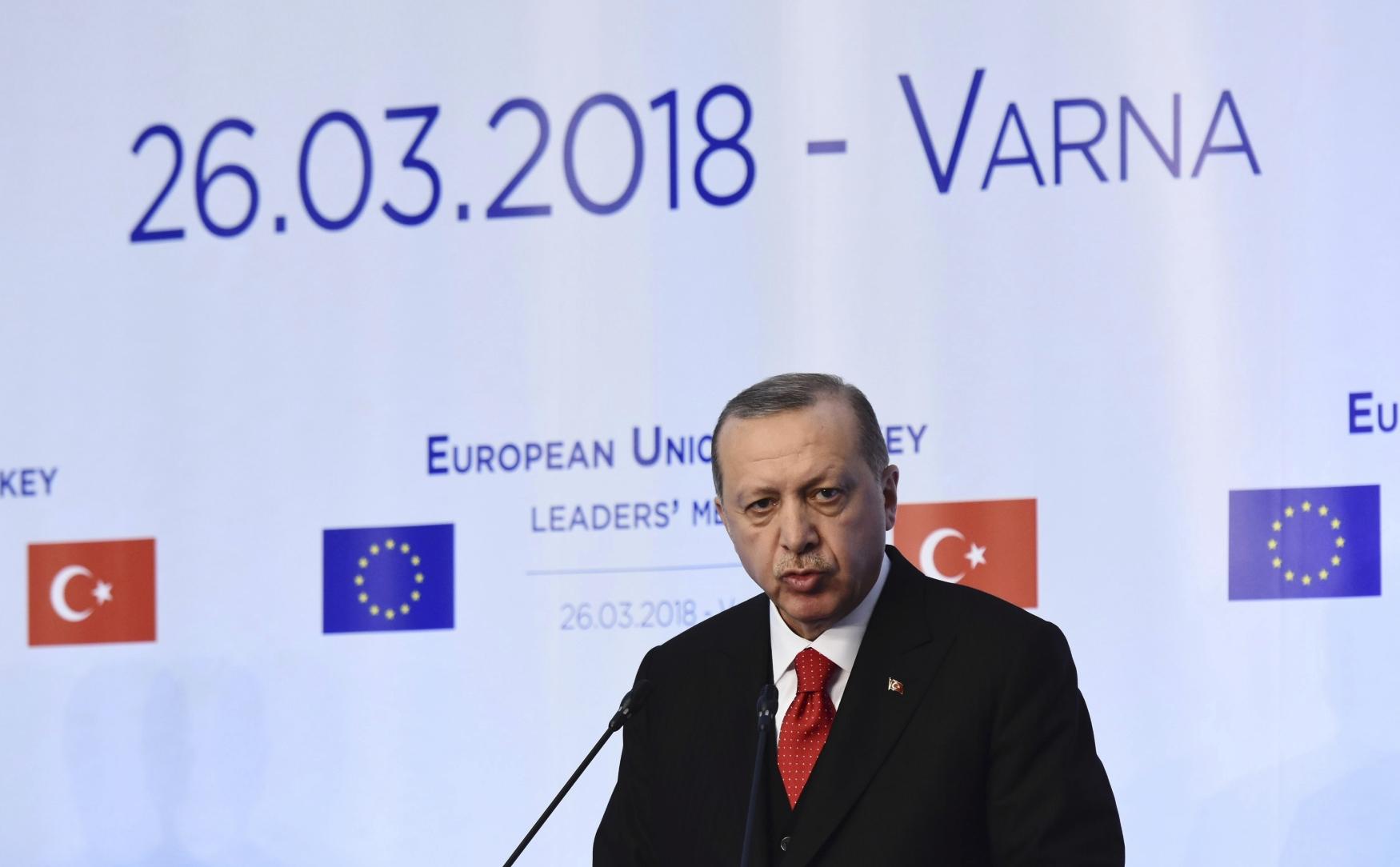 Recep Tayyip Erdogan na summitu v bulharské Varně