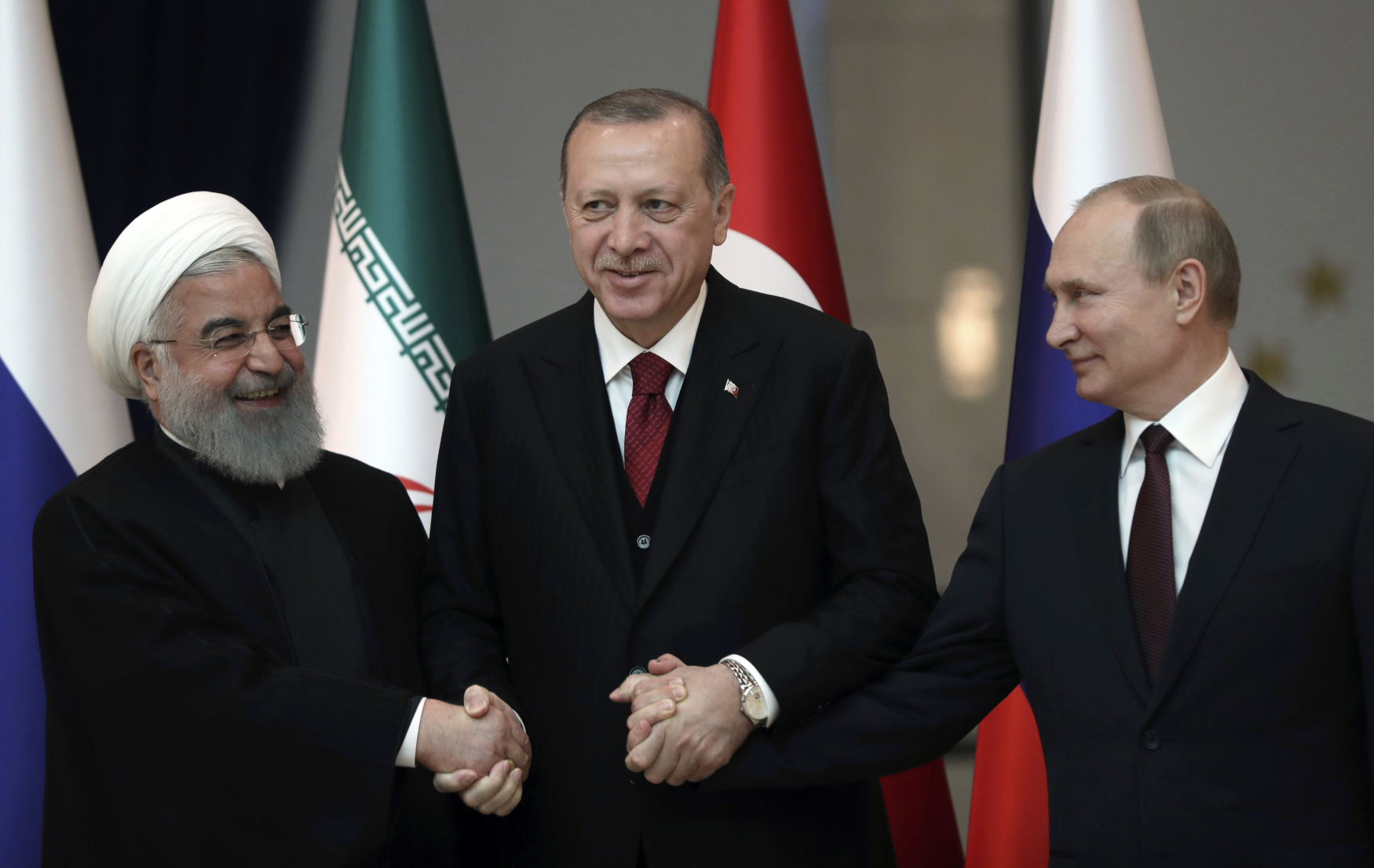 Setkání Recepa Tayyipa Erdogana s prezidenty Íránu a Ruska směřuje k překreslení dosavadní politické moci v regionu