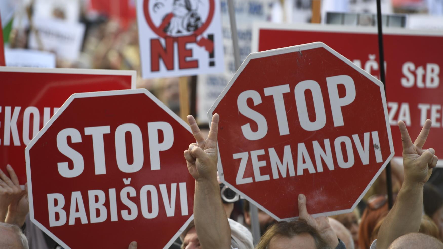 Demonstrace za demisi ministryně spravedlnosti Marie Benešové a proti vládě Andreje Babiše