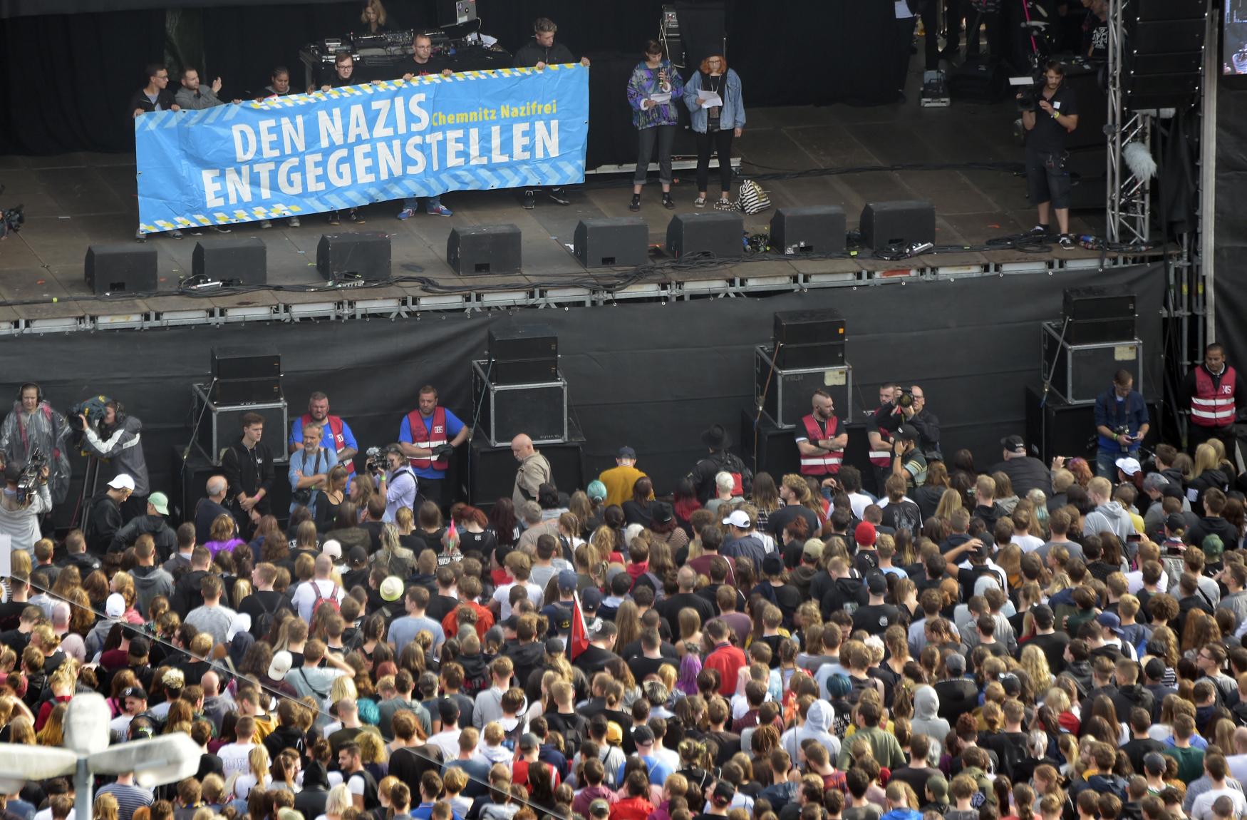 Koncert v Chemnitz proti extremismu