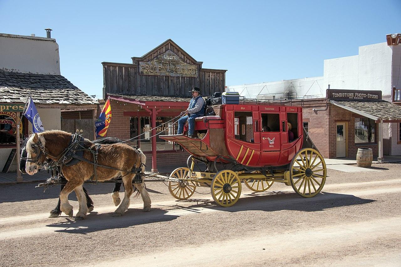 Město Tombstone v Arizoně nedaleko mexické hranice
