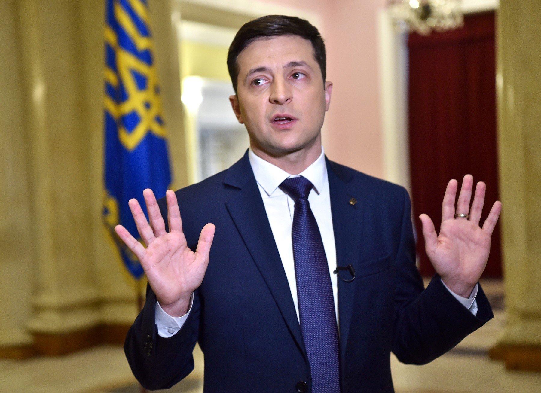 Kandidát na ukrajinského prezidenta Volodymyr Zelenskyj
