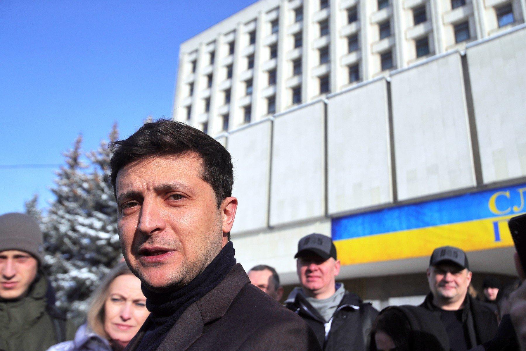 Komik Volodymyr Zelensky, jeden z kandidátů na ukrajinského prezidenta