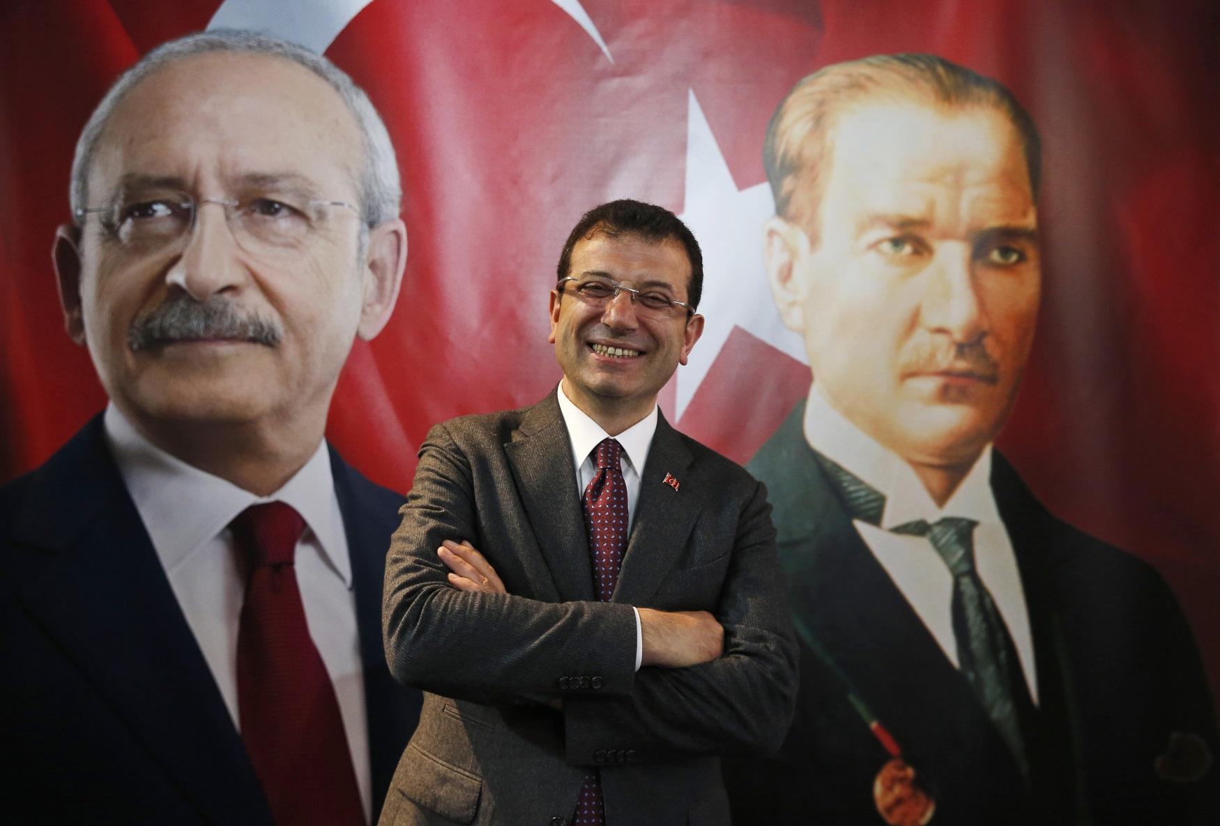 Ekrem Imamoglu, kandidát republikánů (CHP) na starostu Istanbulu