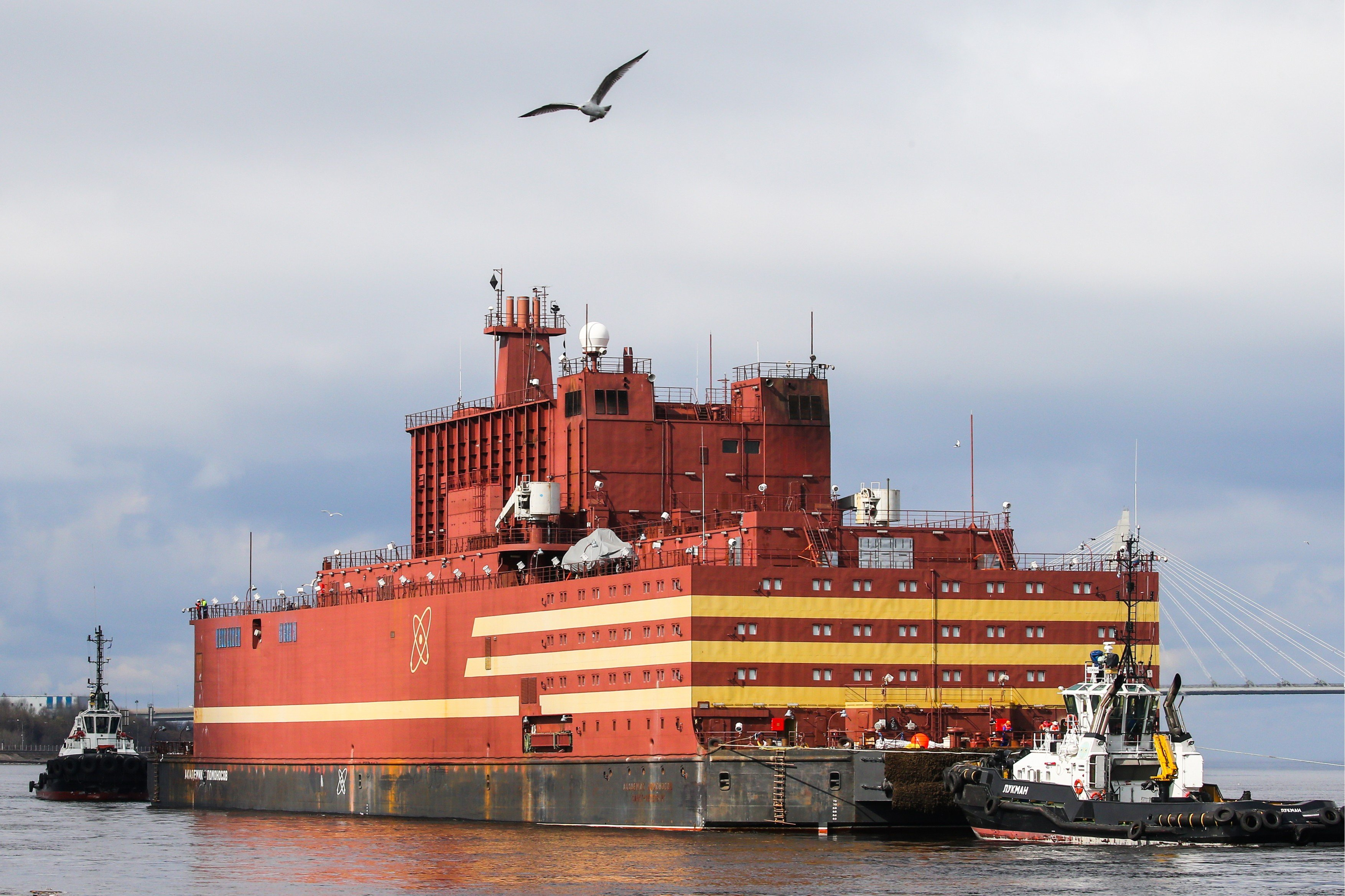 Ruská plovoucí atomová elektrárna Akademik Lomonosov