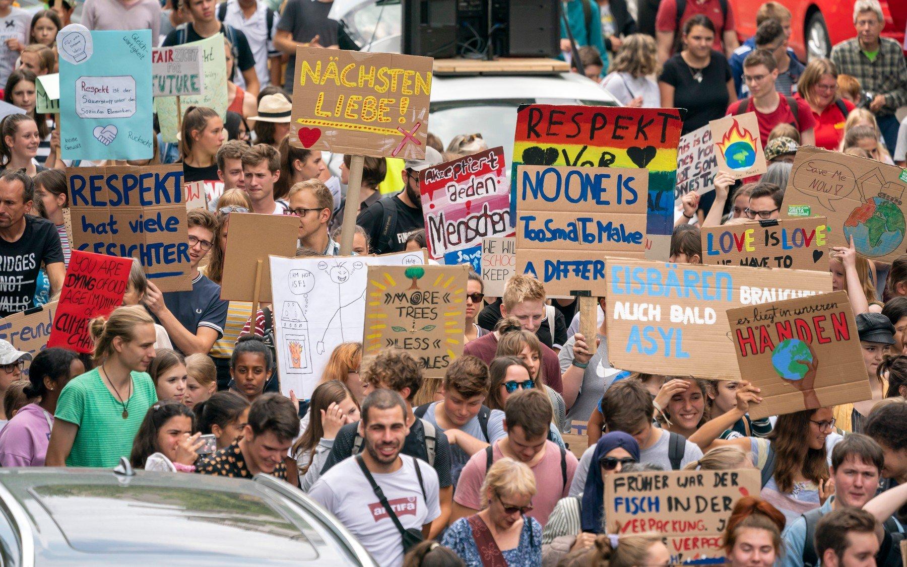 Hnutí Fridays for Future v německém Mannheimu