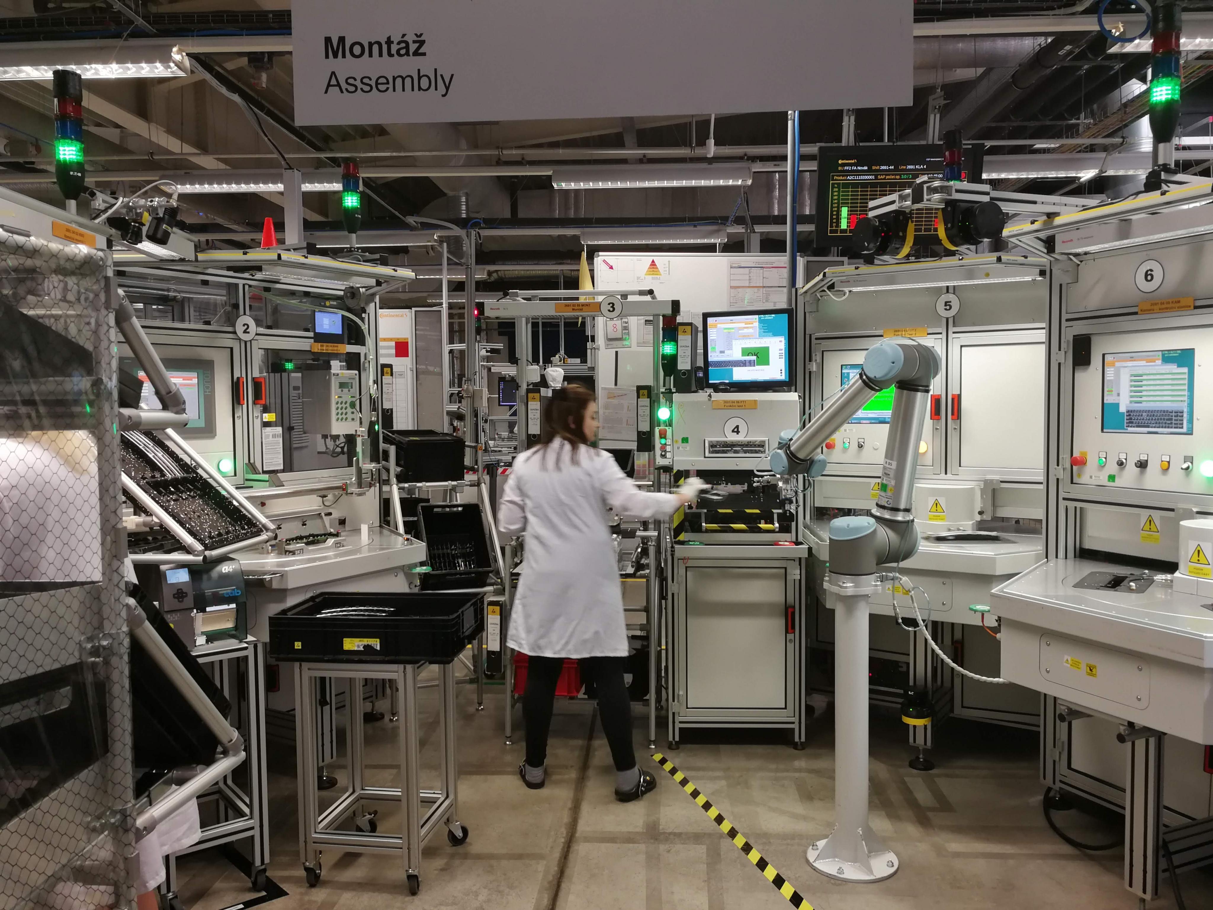 Kolaborativní robot z firmy Continental v Brandýse nad Labem