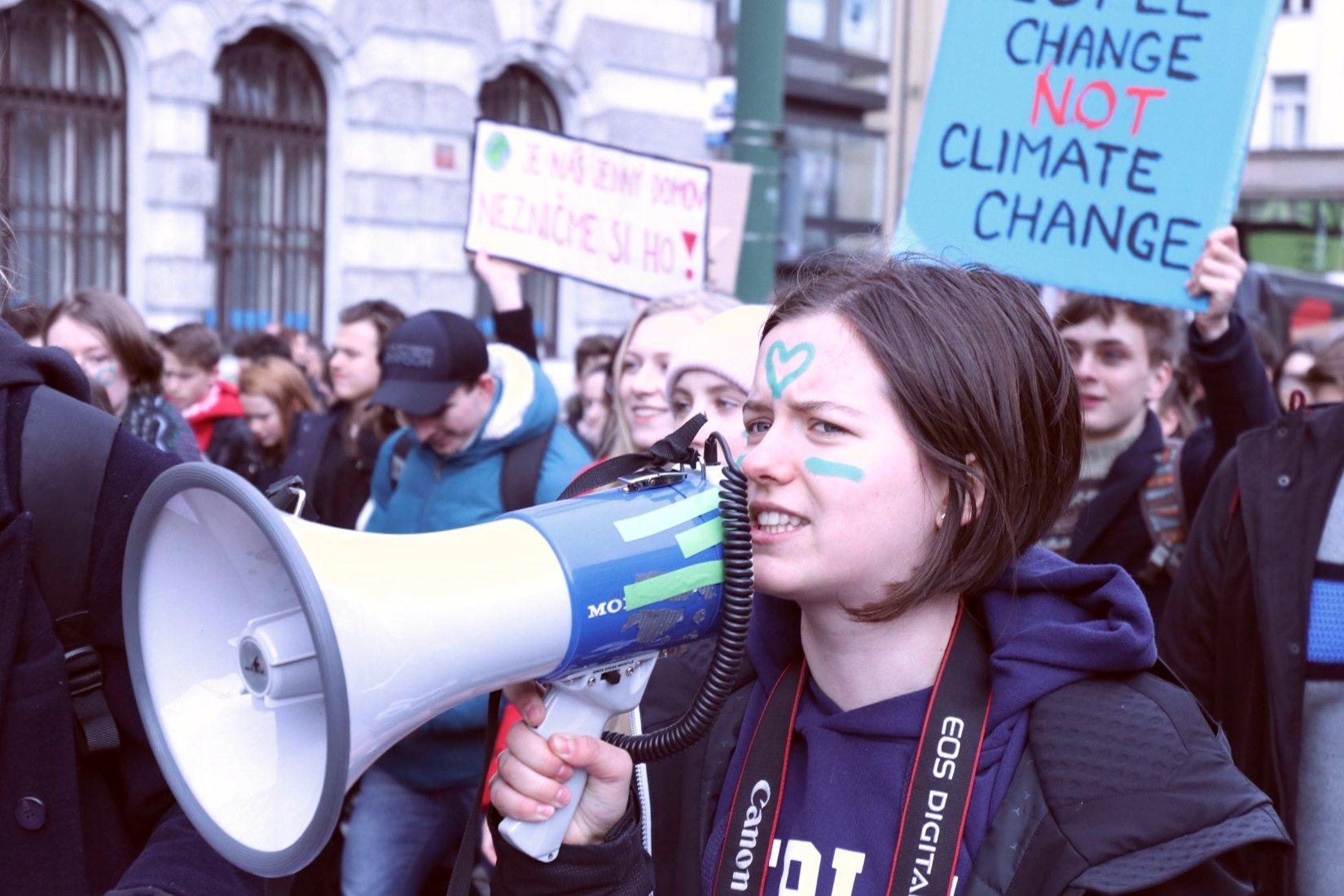 Studentská klimatická stávka Fridays For Future v Praze