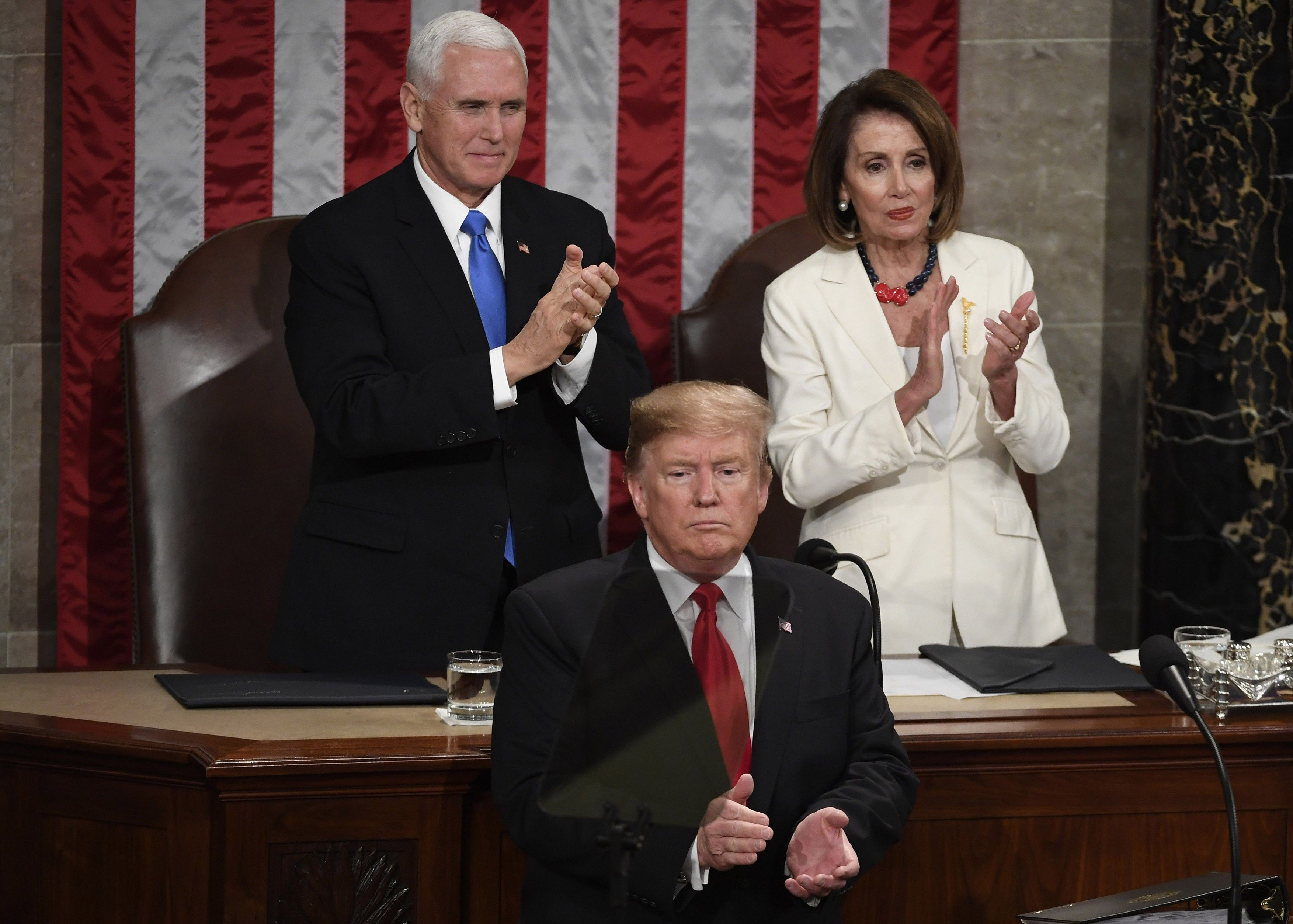 Donald Trump při projevu o stavu unie