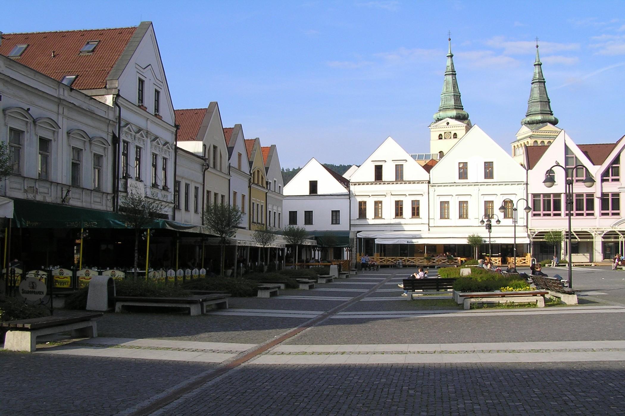 Historické Mariánské náměstí v Žilině