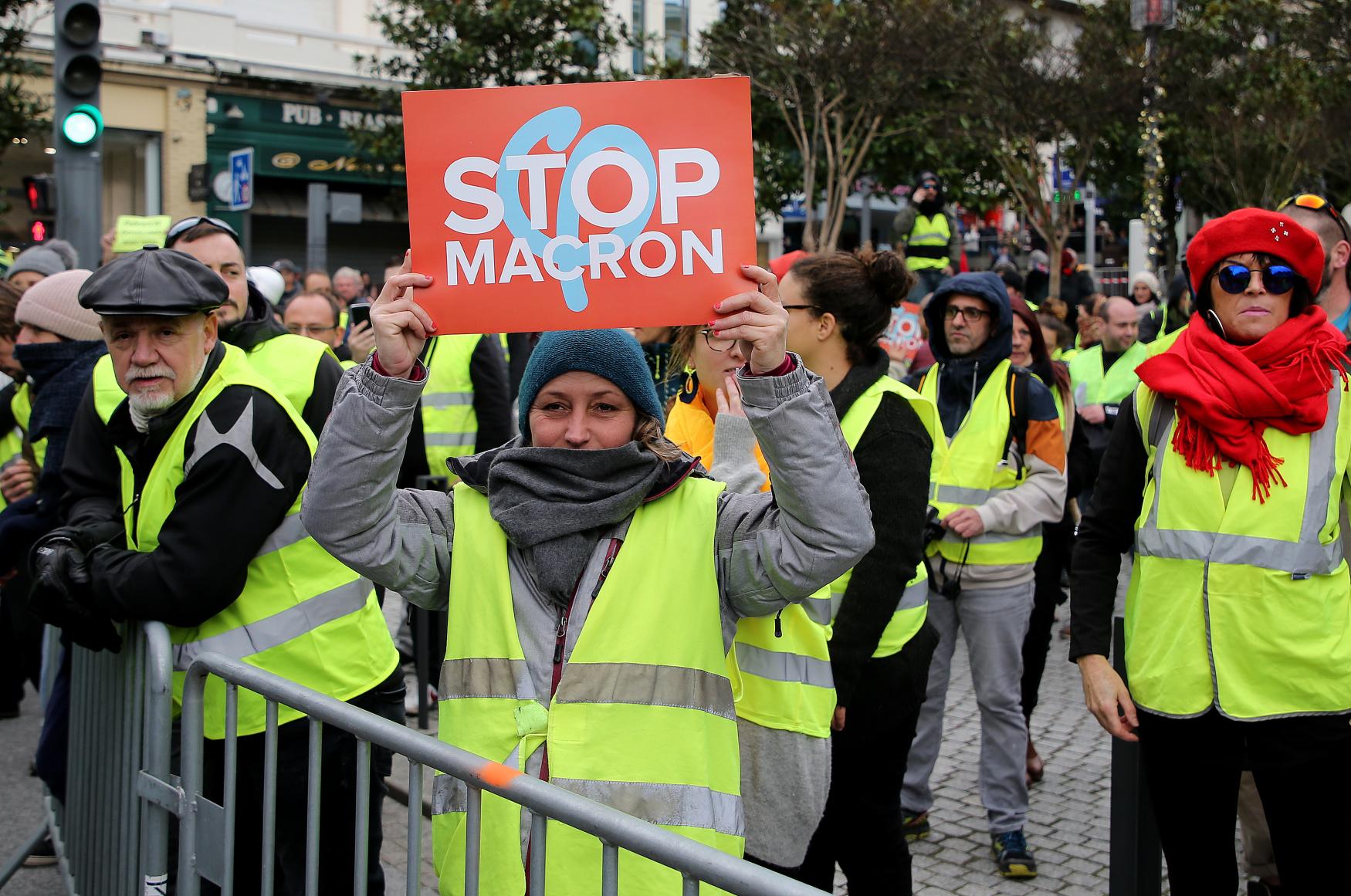 Protest žlutých vest na jihozápadě Francie